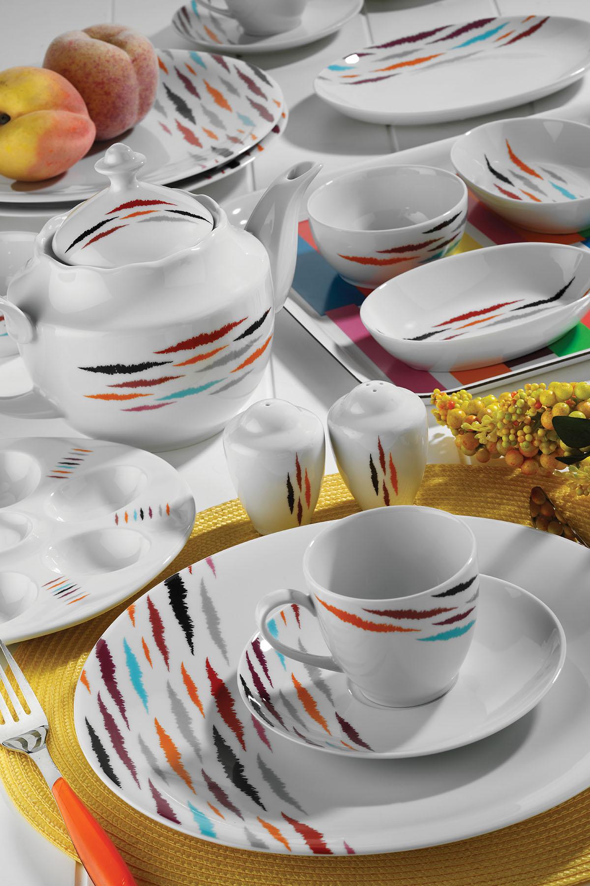 KÜTAHYA PORSELEN - Kütahya Porselen 35 Parça 10070 Desen Kahvaltı Takımı