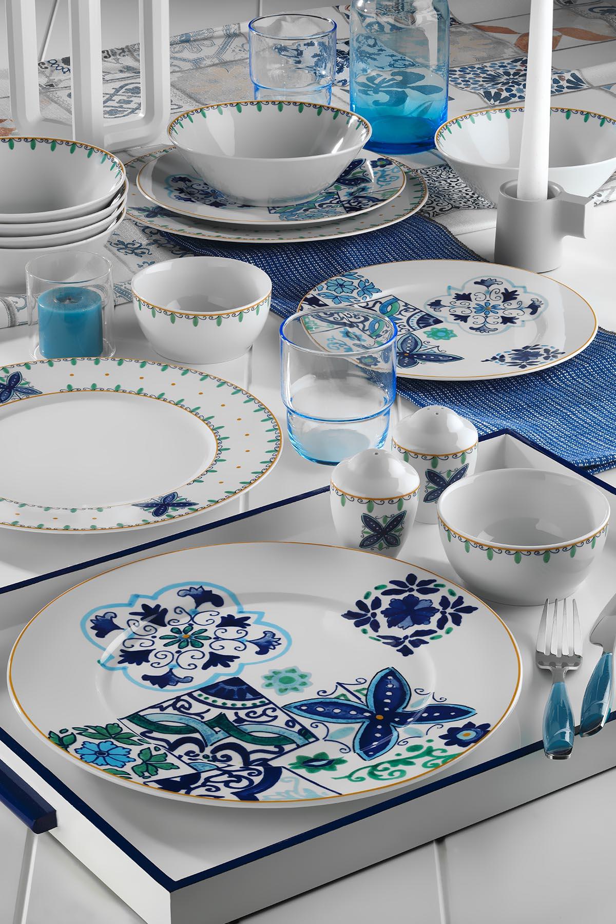 Kütahya Porselen - Kütahya Porselen Leonberg 35 Parça 10396 Desen Brunch Set