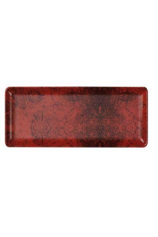 Kütahya Porselen - Kütahya Porselen 35x15 cm Servis Tabağı Kırmızı