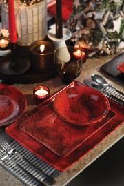 Kütahya Porselen 35x15 Cm Servis Tabağı Kırmızı - Thumbnail