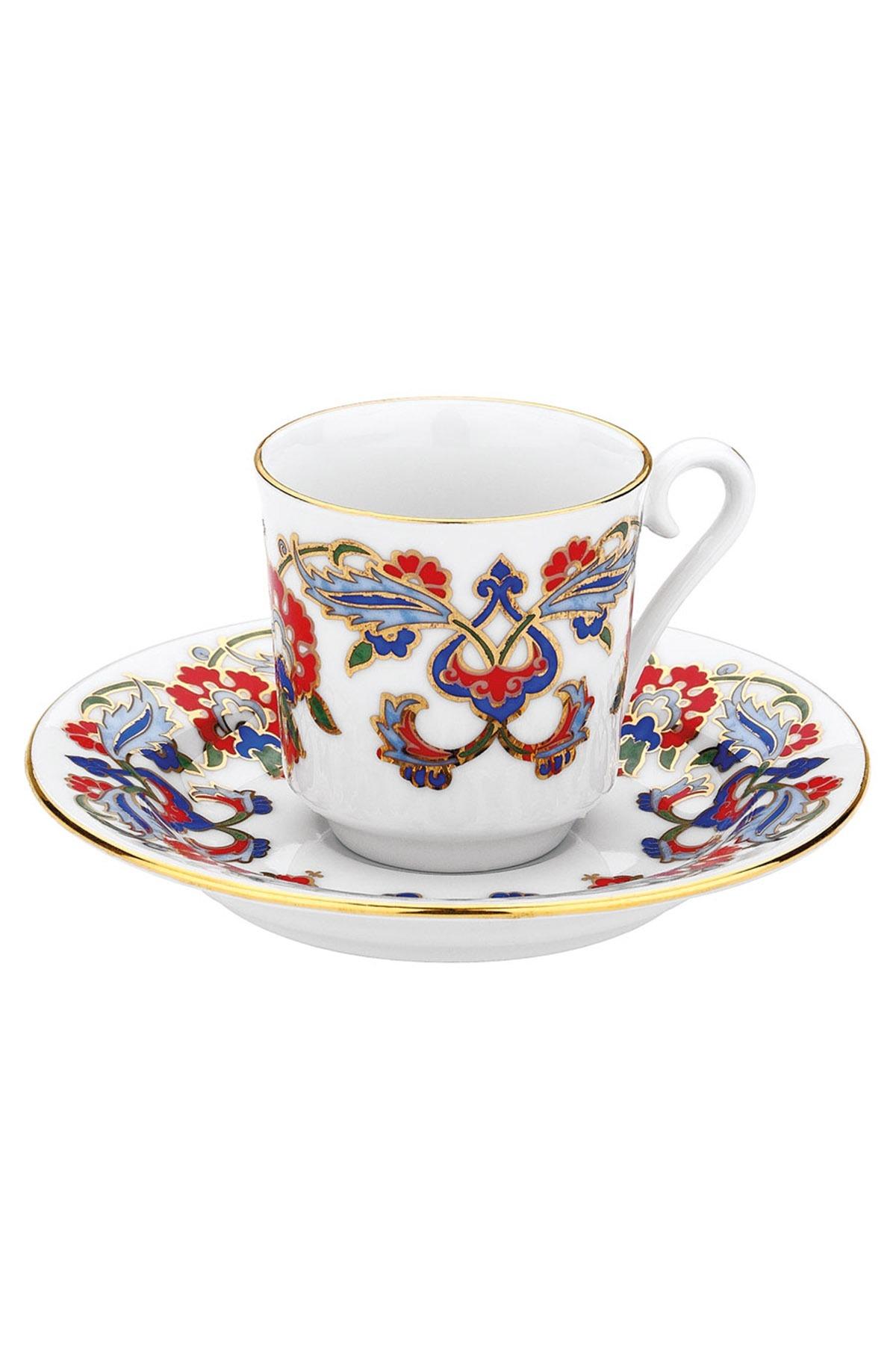 KÜTAHYA PORSELEN - Kütahya Porselen 452 Desen Kahve Fincan Takımı