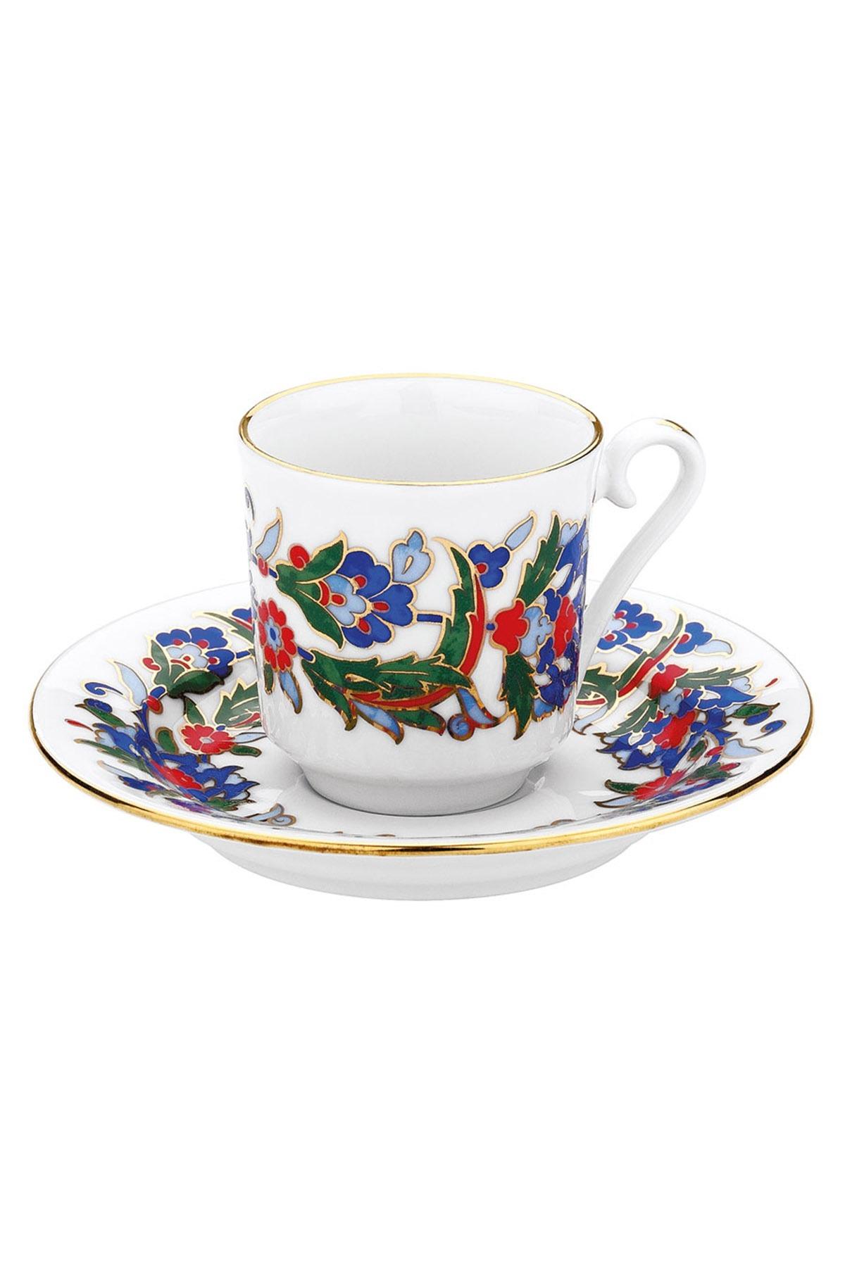 KÜTAHYA PORSELEN - Kütahya Porselen 458 Desen Kahve Fincan Takımı