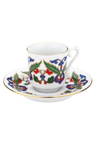 KÜTAHYA PORSELEN - Kütahya Porselen 551 Desen Kahve Fincan Takımı