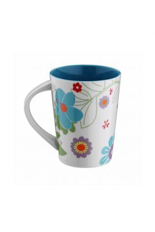 Kütahya Porselen - Kütahya Porselen 6028 Dekor Mug Bardak Turkuaz