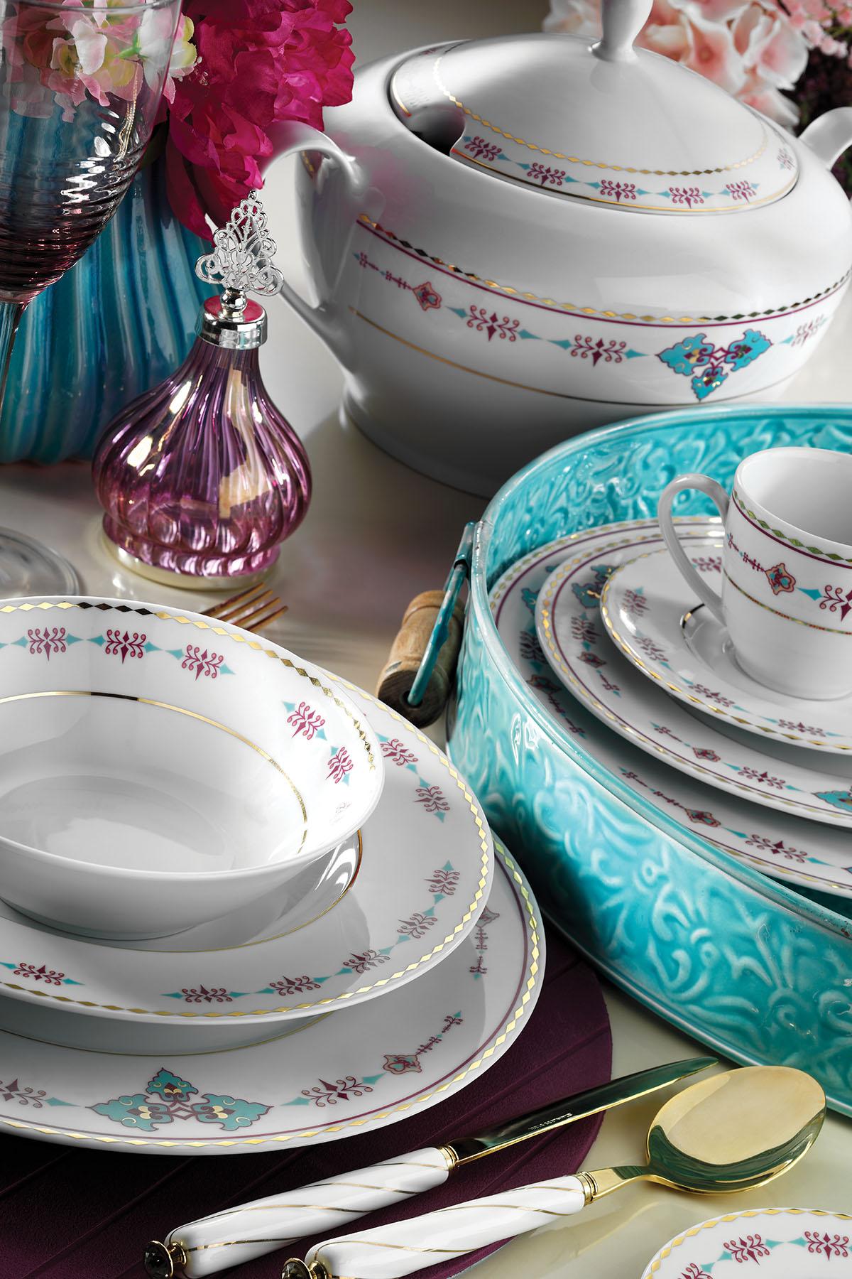 KÜTAHYA PORSELEN - Kütahya Porselen 83 Parça 9297 Desenli Yemek Takımı