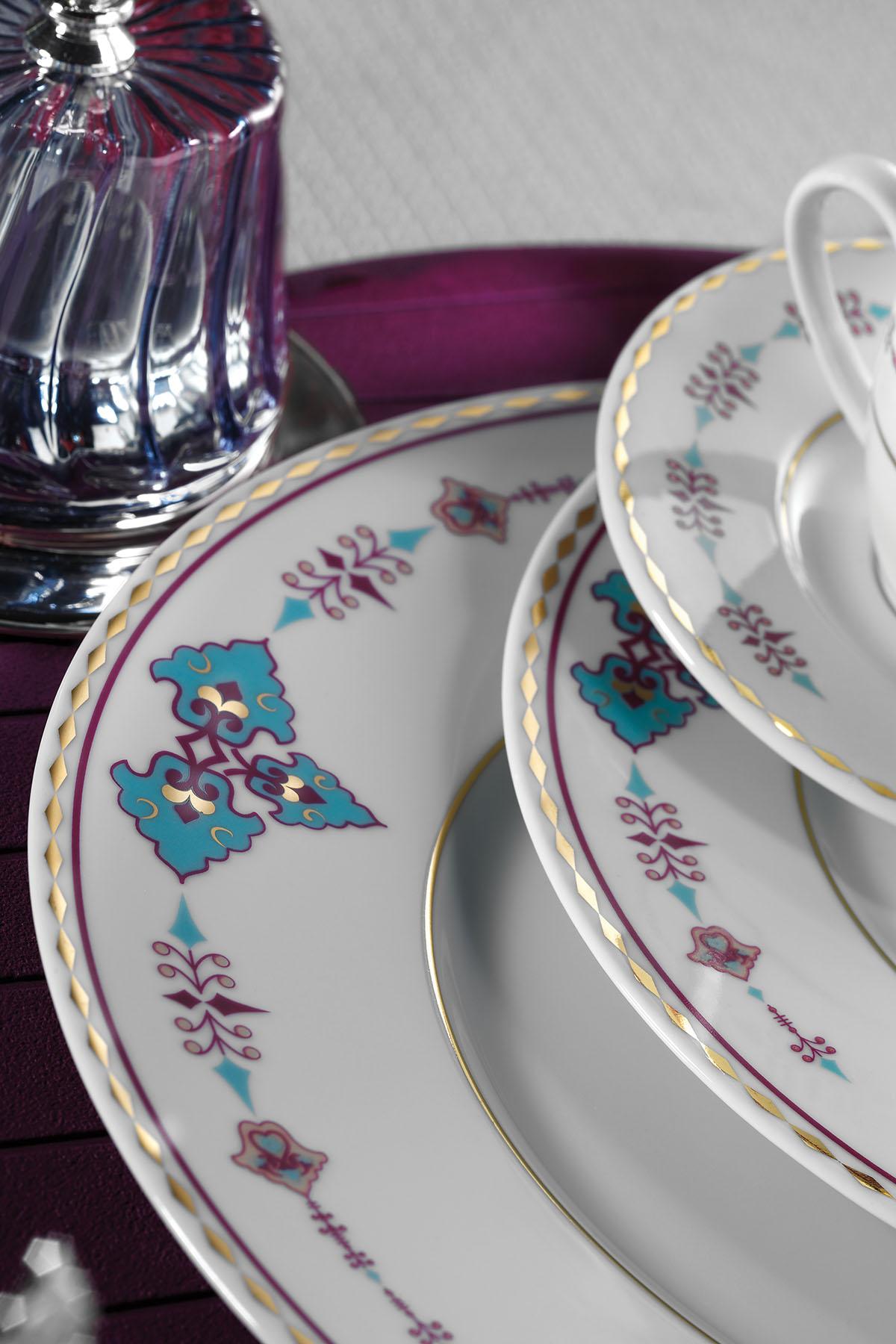 Kütahya Porselen 83 Parça 9297 Desenli Yemek Takımı