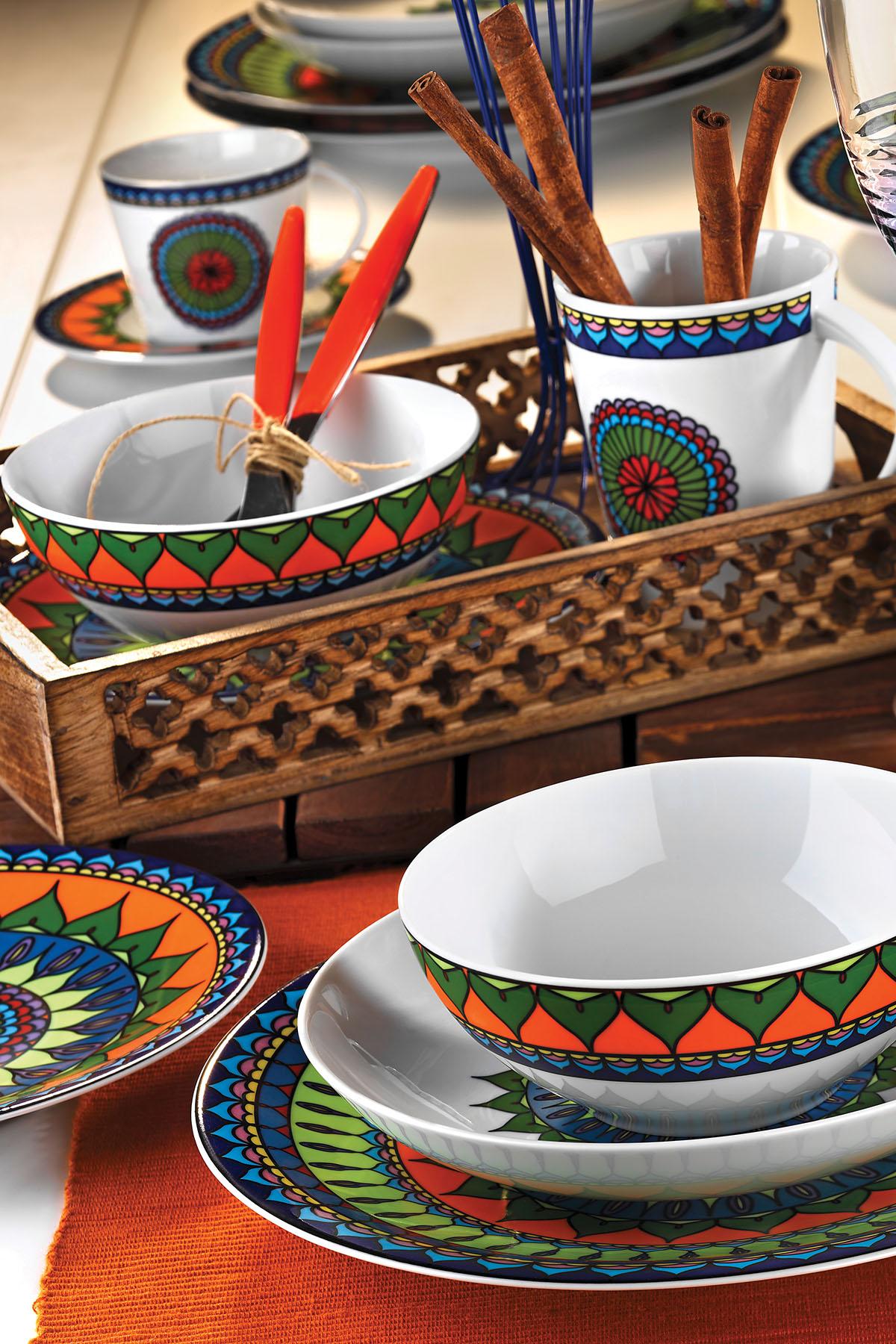 Kütahya Porselen - Kütahya Porselen 8982 Desen 24 Parça Yemek Seti
