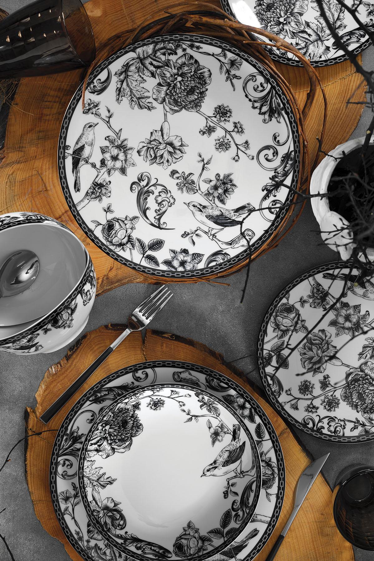 Kütahya Porselen - Kütahya Porselen 939012 Desen 24 Parça Yemek Seti