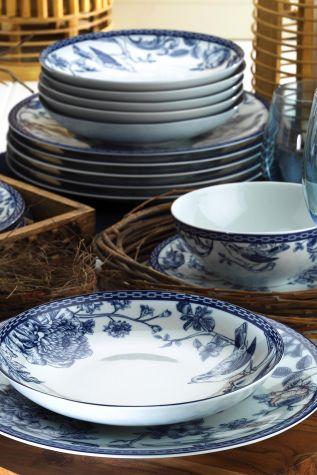 Kütahya Porselen Bleu Blanc 939016 Desen 24 Parça Yemek Seti - Thumbnail (1)