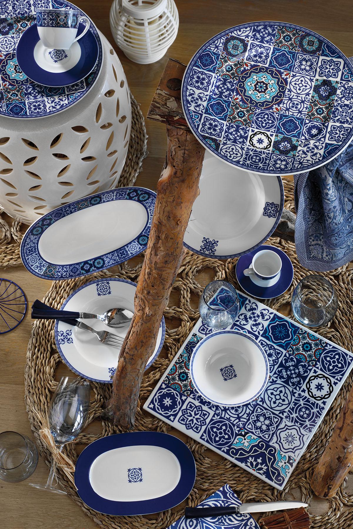Kütahya Porselen - Kütahya Porselen 9429 Desen 24 Parça Yemek Seti