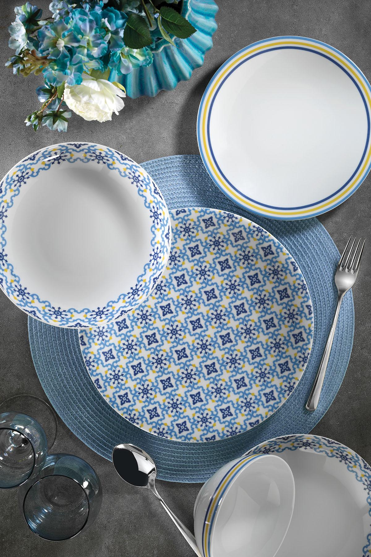 Kütahya Porselen - Kütahya Porselen 9993 Desen 24 Parça Yemek Seti