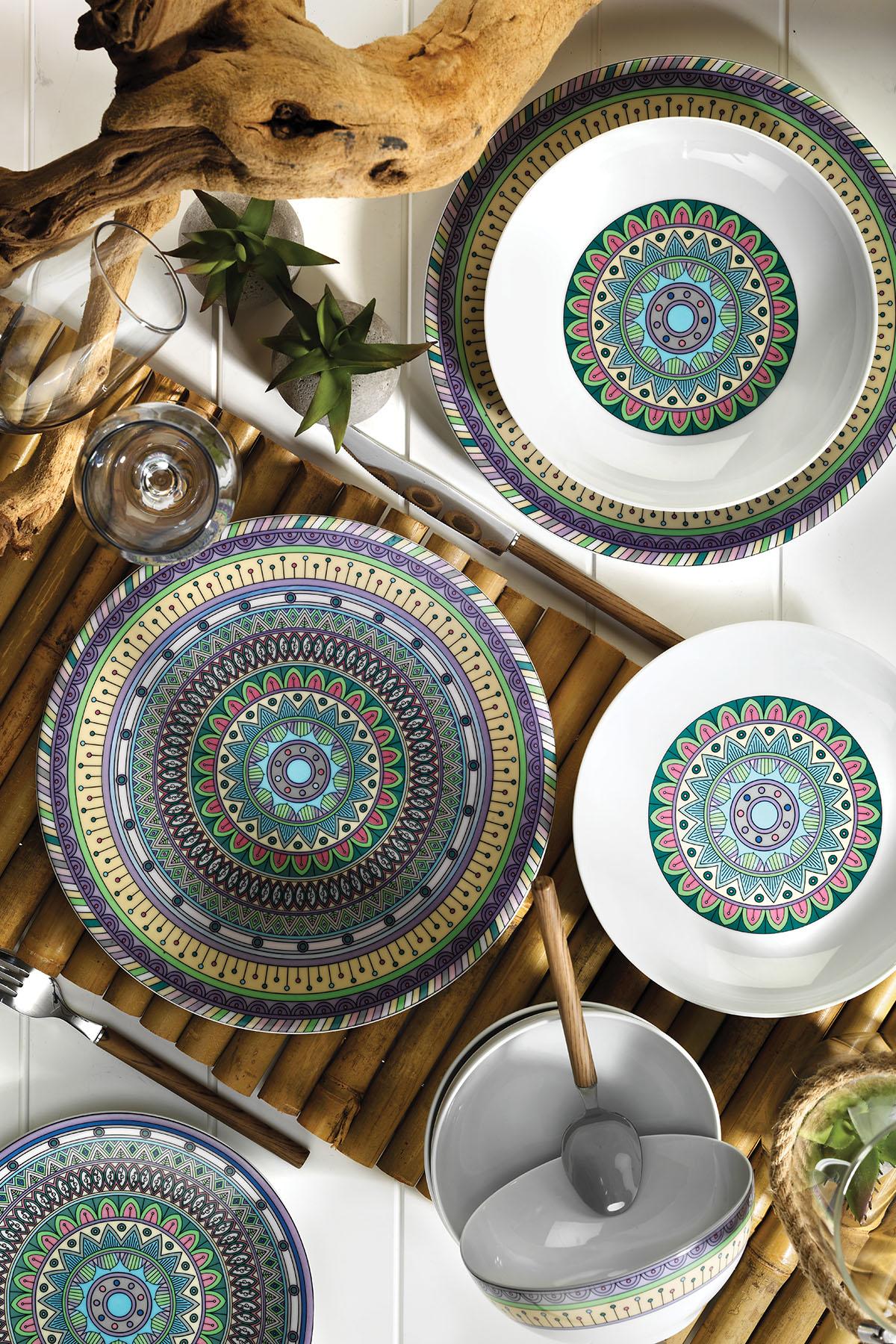KÜTAHYA PORSELEN - Kütahya Porselen 9996 Desen 24 Parça Yemek Seti
