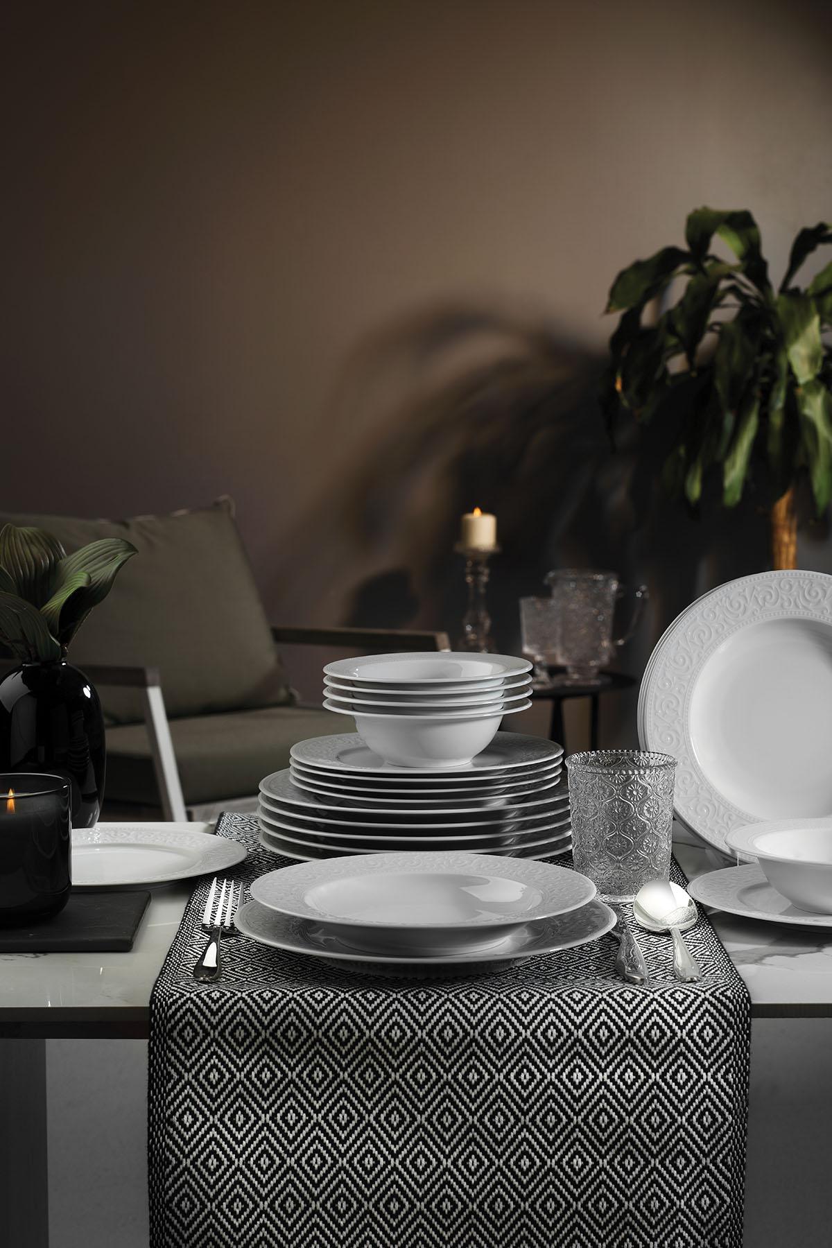 Kütahya Porselen - Kütahya Porselen Açelya 24 Parça Yemek Seti (1)