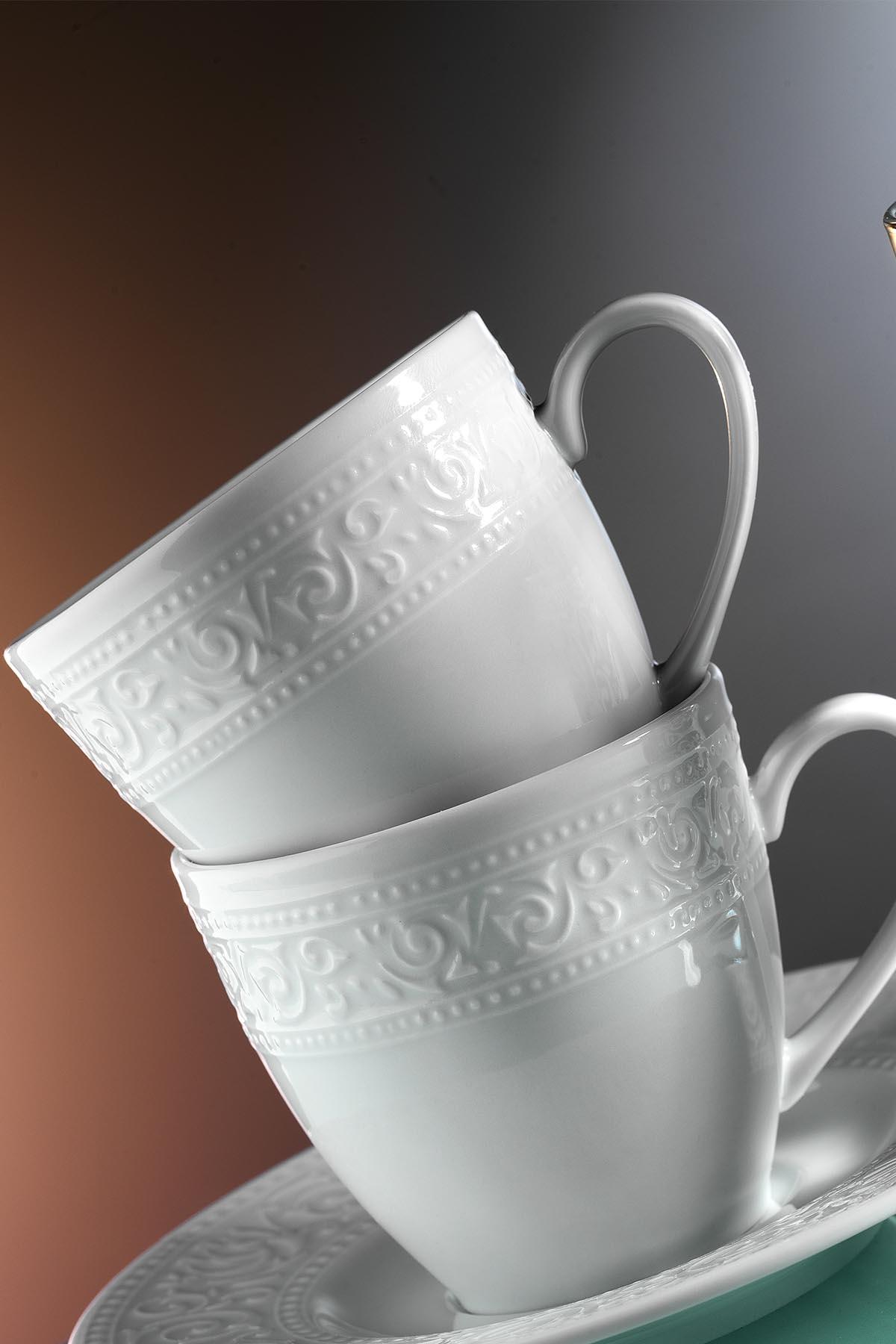 Kütahya Porselen - Kütahya Porselen Açelya Kahve Fincan Takımı