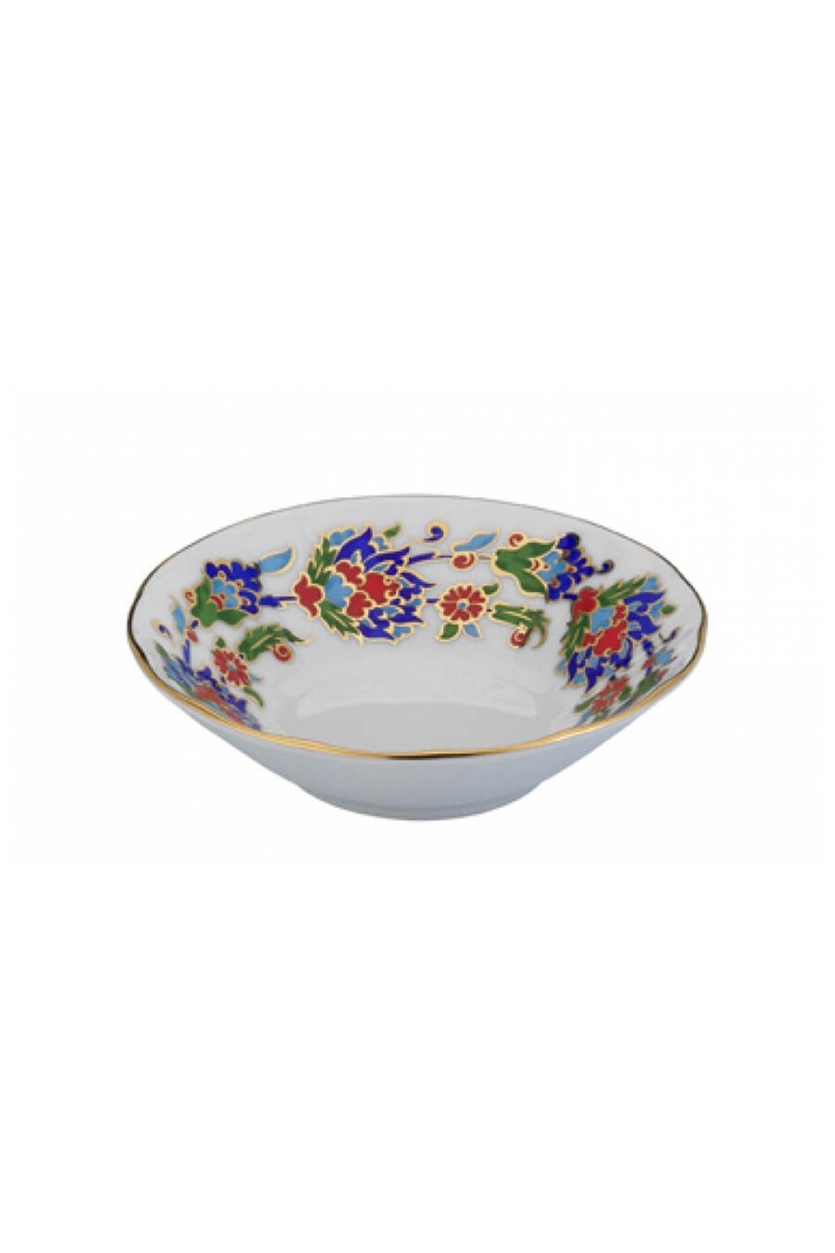 KÜTAHYA PORSELEN - Kütahya Porselen Acem El Yapımı Çay Tabağı 458 Desen
