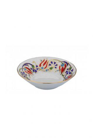 Kütahya Porselen - Kütahya Porselen Acem El Yapımı Çay Tabağı 460 Desen