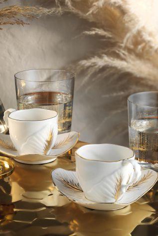 Artebianco - Arte Bianco Lavin Kahve Takımı