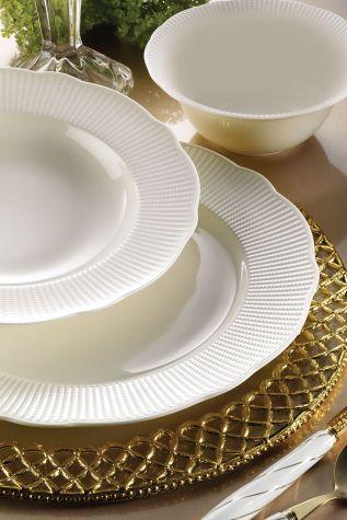Bonamore - Kütahya Porselen Bone İlay 24 Parça Yemek Seti
