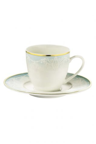 BONAMORE - Kütahya Porselen Bone Kalipso 927914 Desen Kahve Fincan Takımı