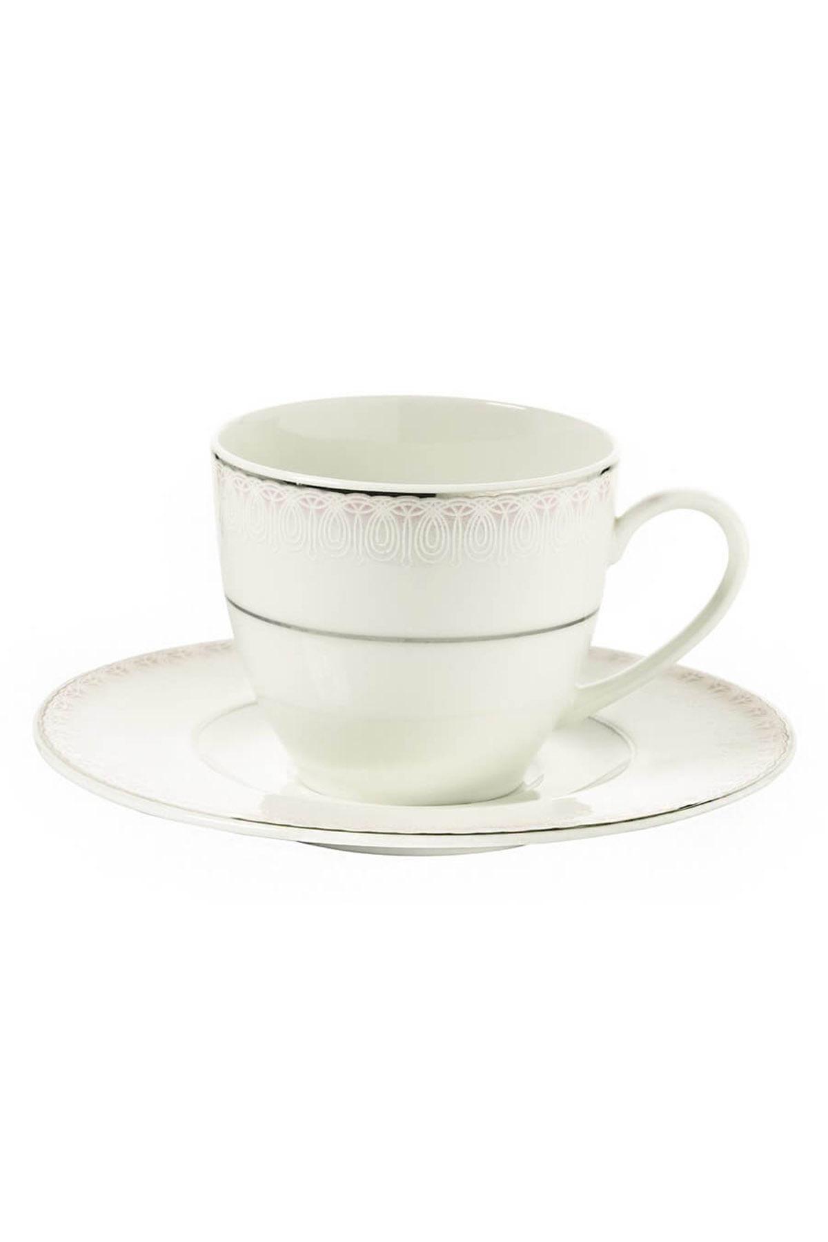 Kütahya Porselen Bone Kalipso 92914 Desen Çay Fincan Takımı