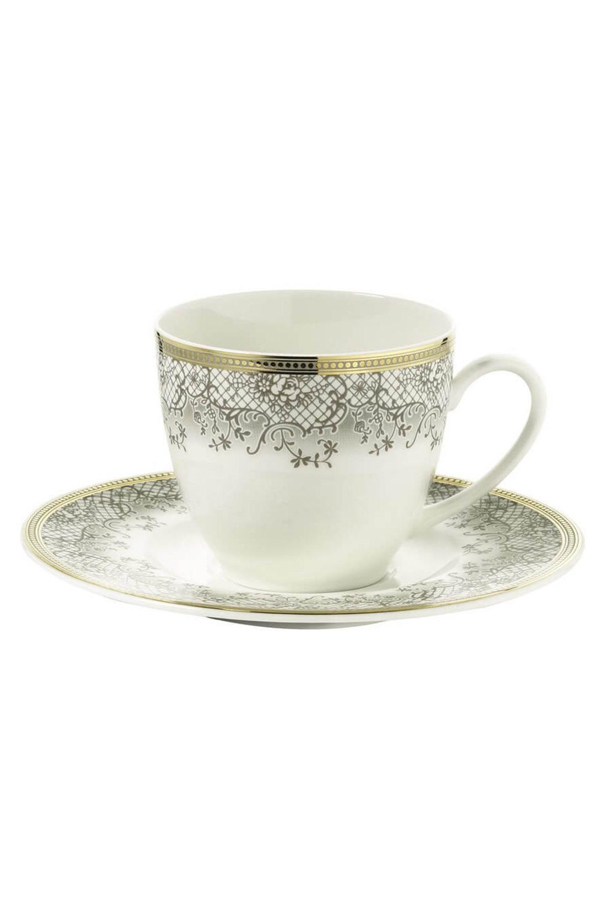 Kütahya Porselen Bone Kalipso 930621 Desen Çay Fincan Takımı