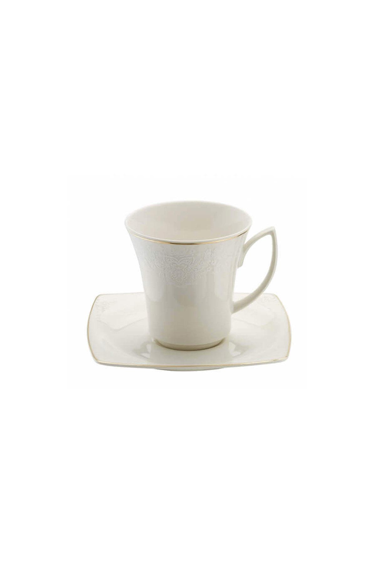 Kütahya Porselen Bone Mare 9559 Desen Kahve Fincan Takımı