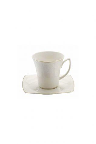 Kütahya Porselen Bone Mare 9559 Desen Kahve Fincan Takımı - Thumbnail (1)