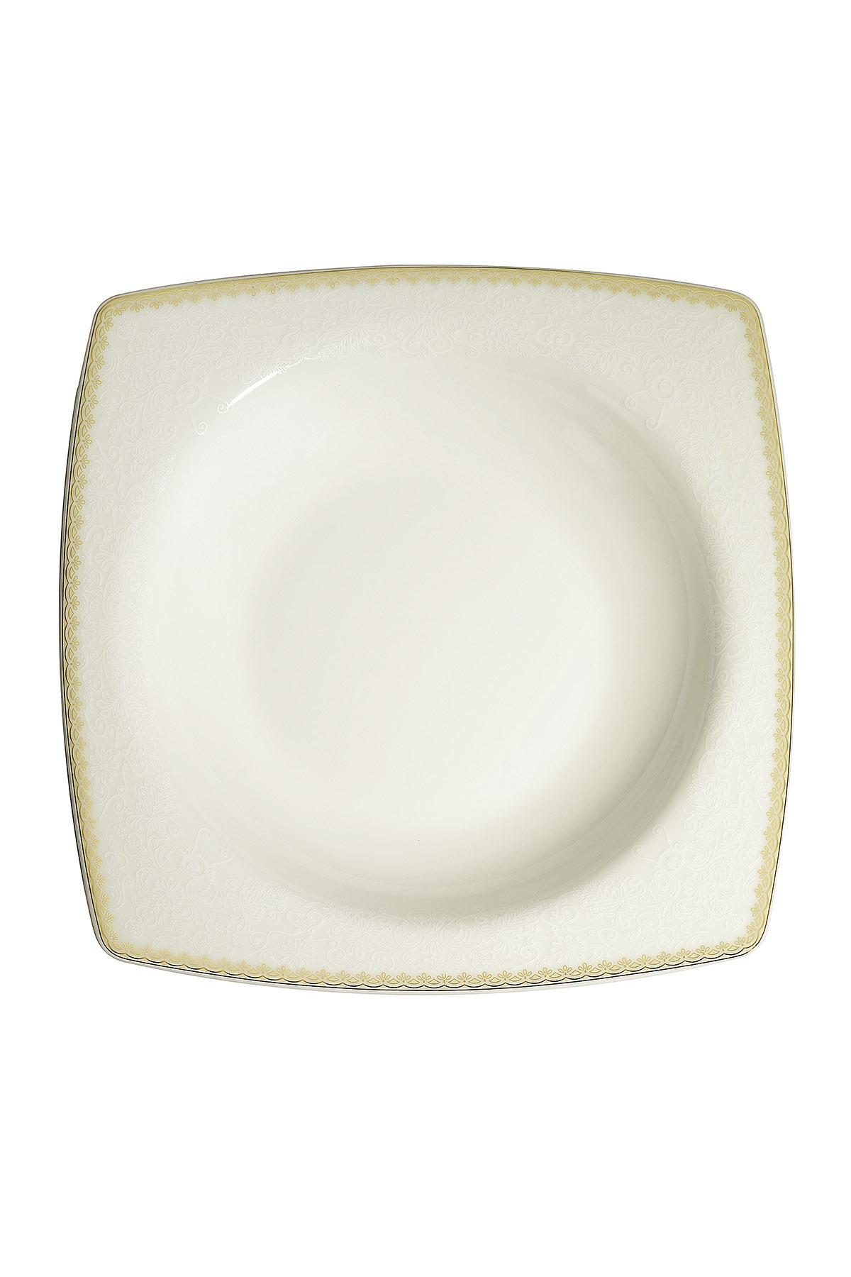Kütahya Porselen Bone Mare 68 Parça 10127 Desenli Yemek Takımı