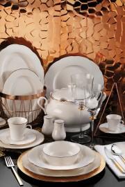 Kütahya Porselen Bone Olympos 54 Parça Yemek Takımı - Thumbnail