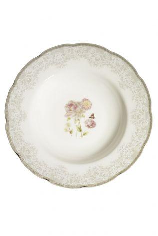Kütahya Porselen Bone Olympos 68 Parça 10046 Desenli Yemek Takımı - Thumbnail (2)
