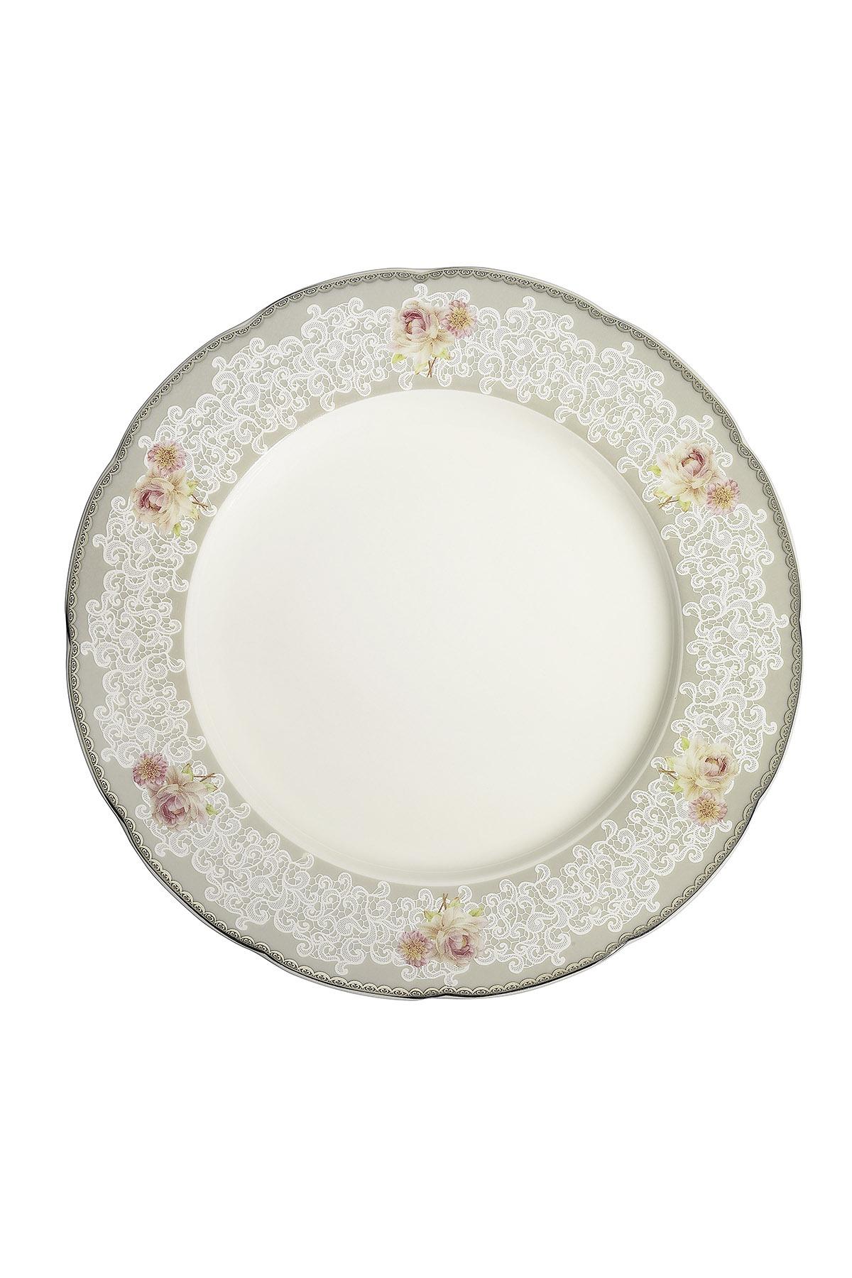 Kütahya Porselen Bone Olympos 68 Parça 10046 Desenli Yemek Takımı
