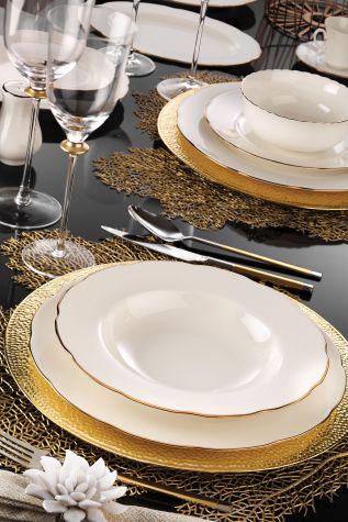 Kütahya Porselen Bone Olympos 83 Parça Yemek Takımı - Thumbnail (2)