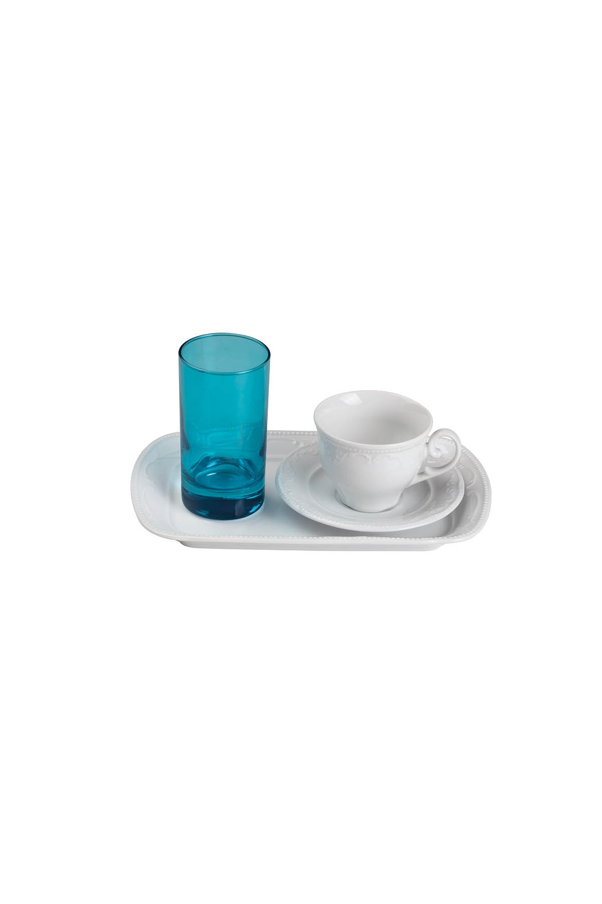 Kütahya Porselen - Kütahya Porselen Caprice Tepsili Fincan Takımı