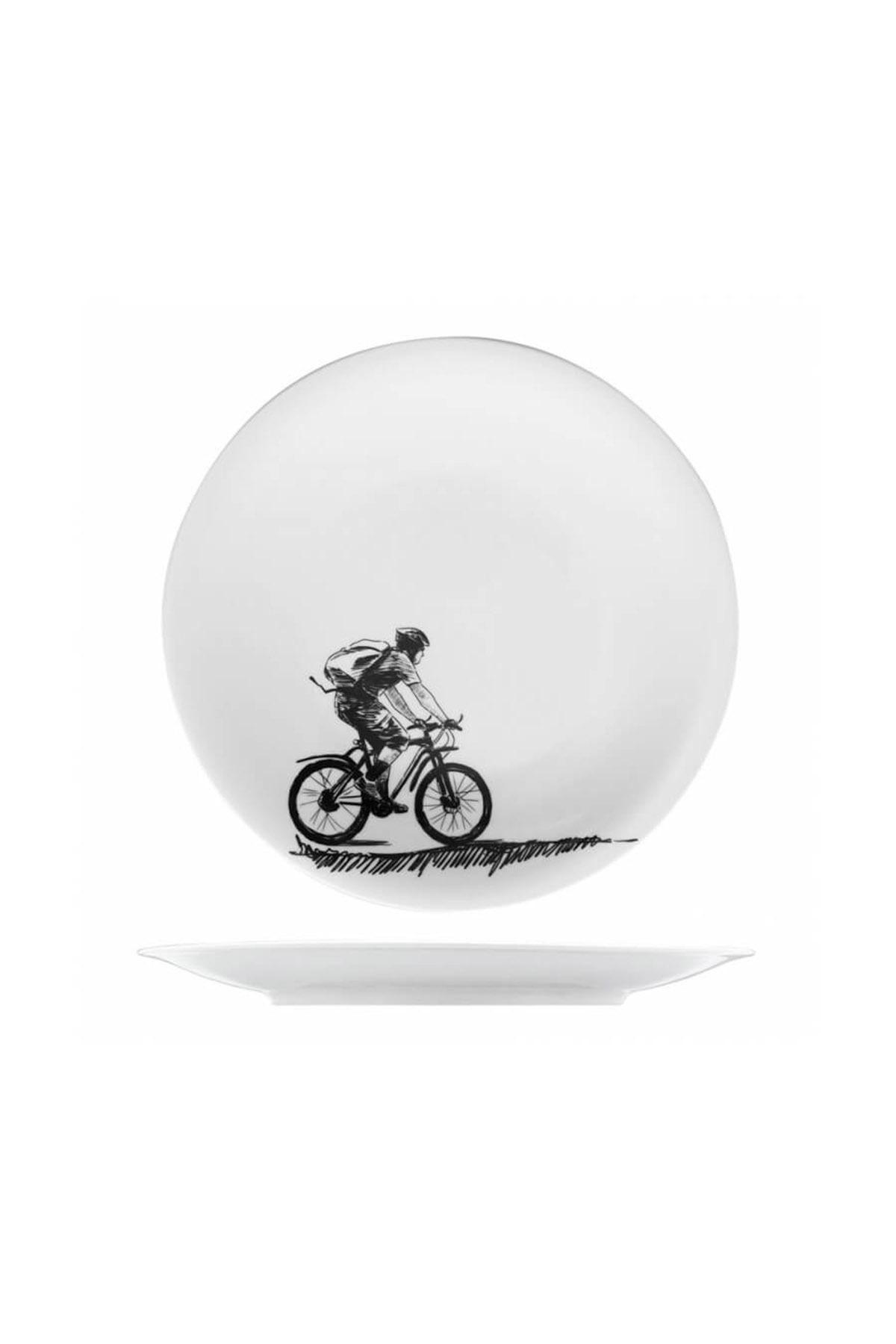 KÜTAHYA PORSELEN - Kütahya Porselen Centilmen Serisi Pasta Tabağı Bisiklet