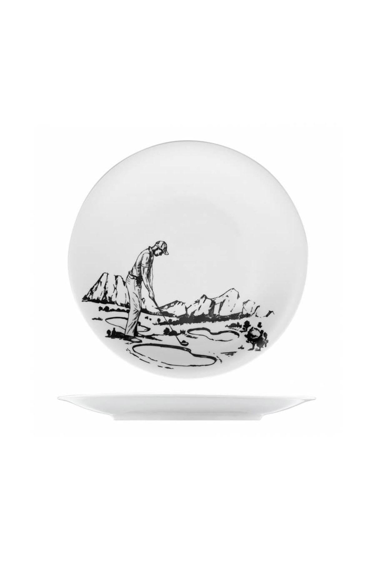 KÜTAHYA PORSELEN - Kütahya Porselen Centilmen Serisi Pasta Tabağı Golf