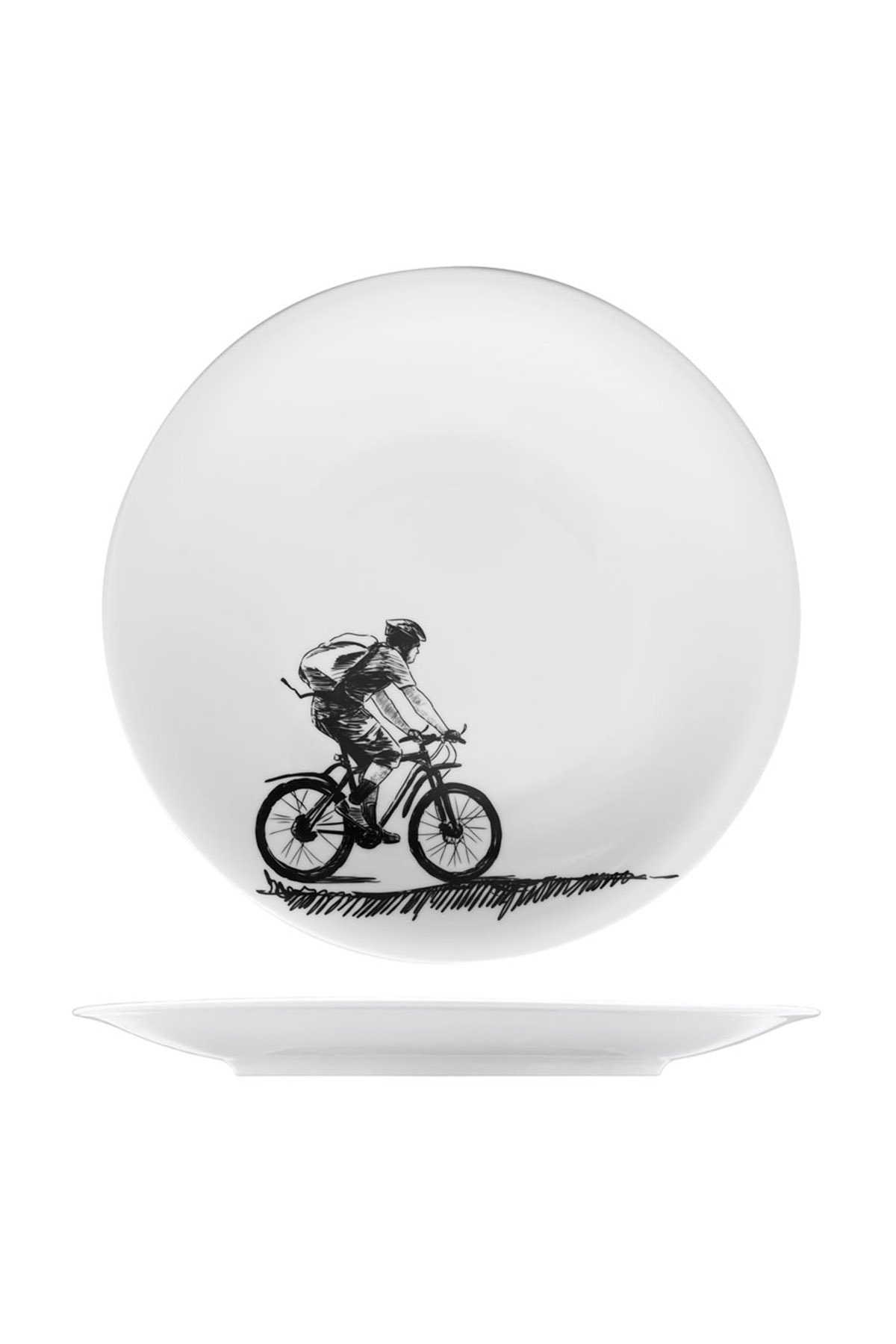 KÜTAHYA PORSELEN - Kütahya Porselen Centilmen Serisi Servis Tabağı Bisiklet