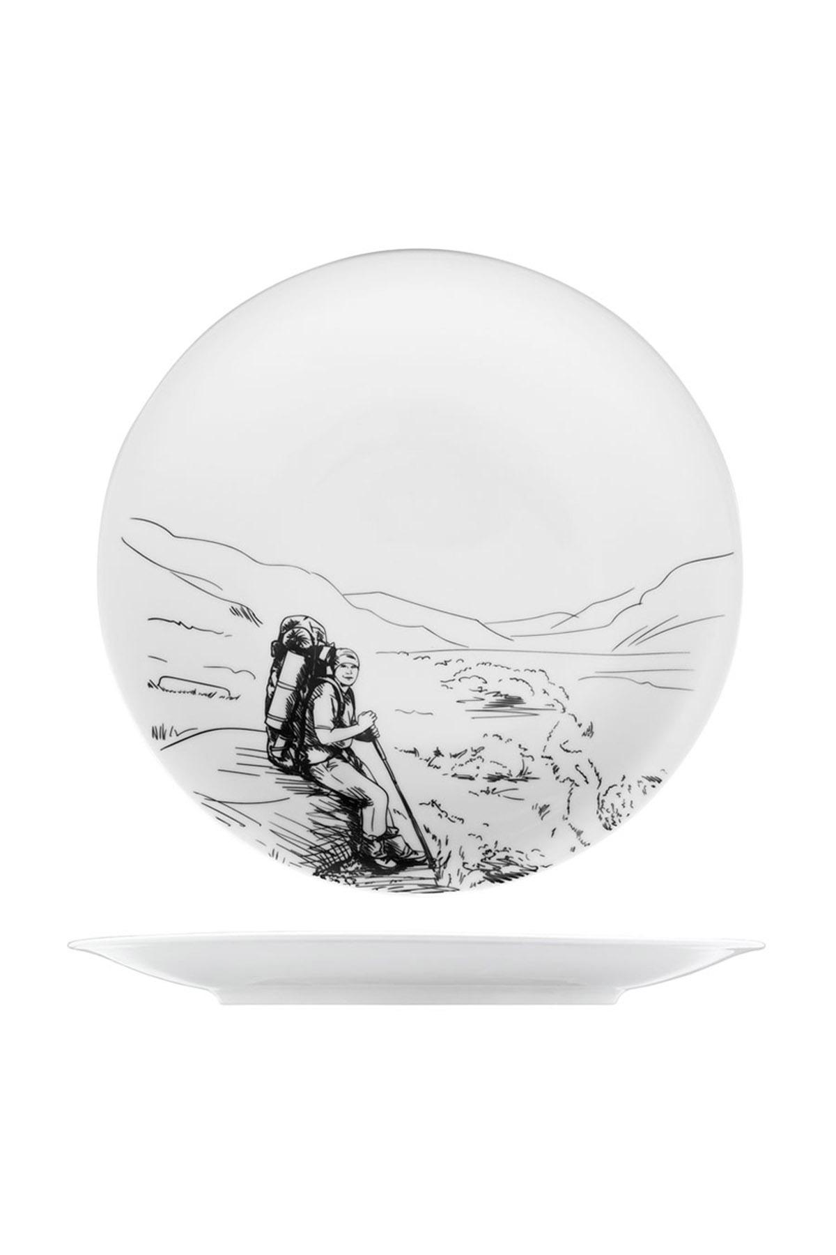 KÜTAHYA PORSELEN - Kütahya Porselen Centilmen Serisi Servis Tabağı Dağcı