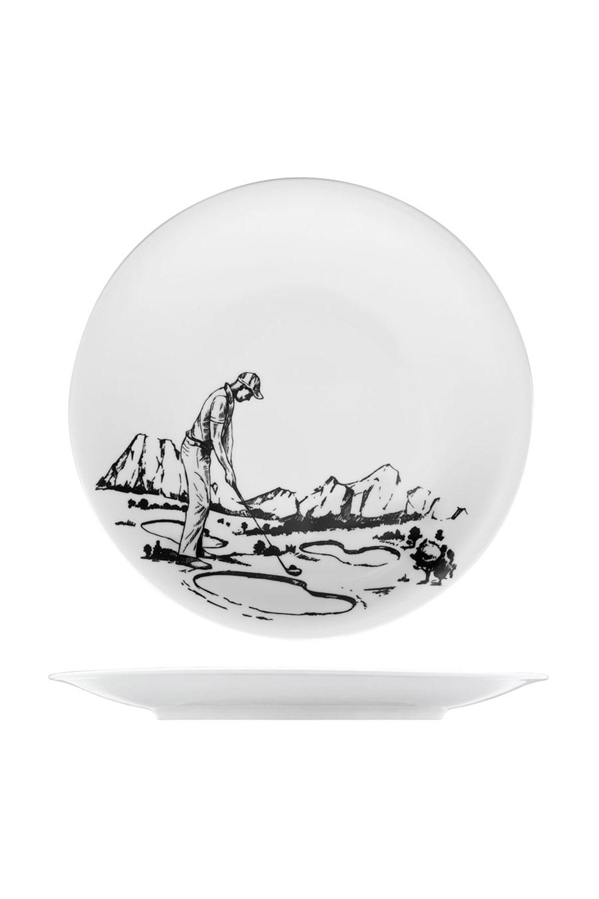KÜTAHYA PORSELEN - Kütahya Porselen Centilmen Serisi Servis Tabağı Golf