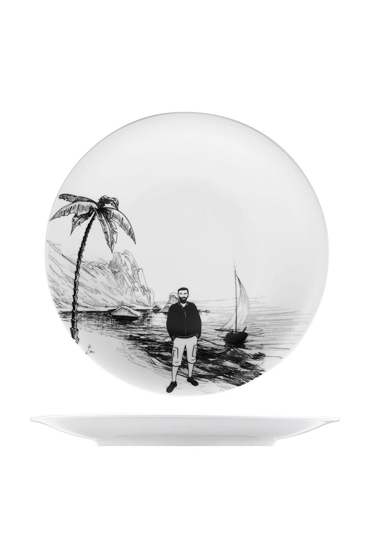 KÜTAHYA PORSELEN - Kütahya Porselen Centilmen Serisi Servis Tabağı Yelken