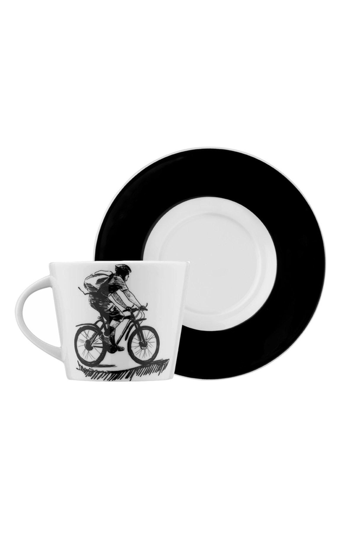 Kütahya Porselen - Kütahya Porselen Centilmen Serisi Kahve Fincan Takımı Bisiklet