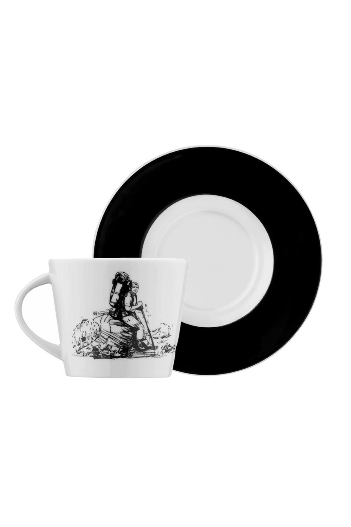 Kütahya Porselen - Kütahya Porselen Centilmen Serisi Kahve Fincan Takımı Dağcı