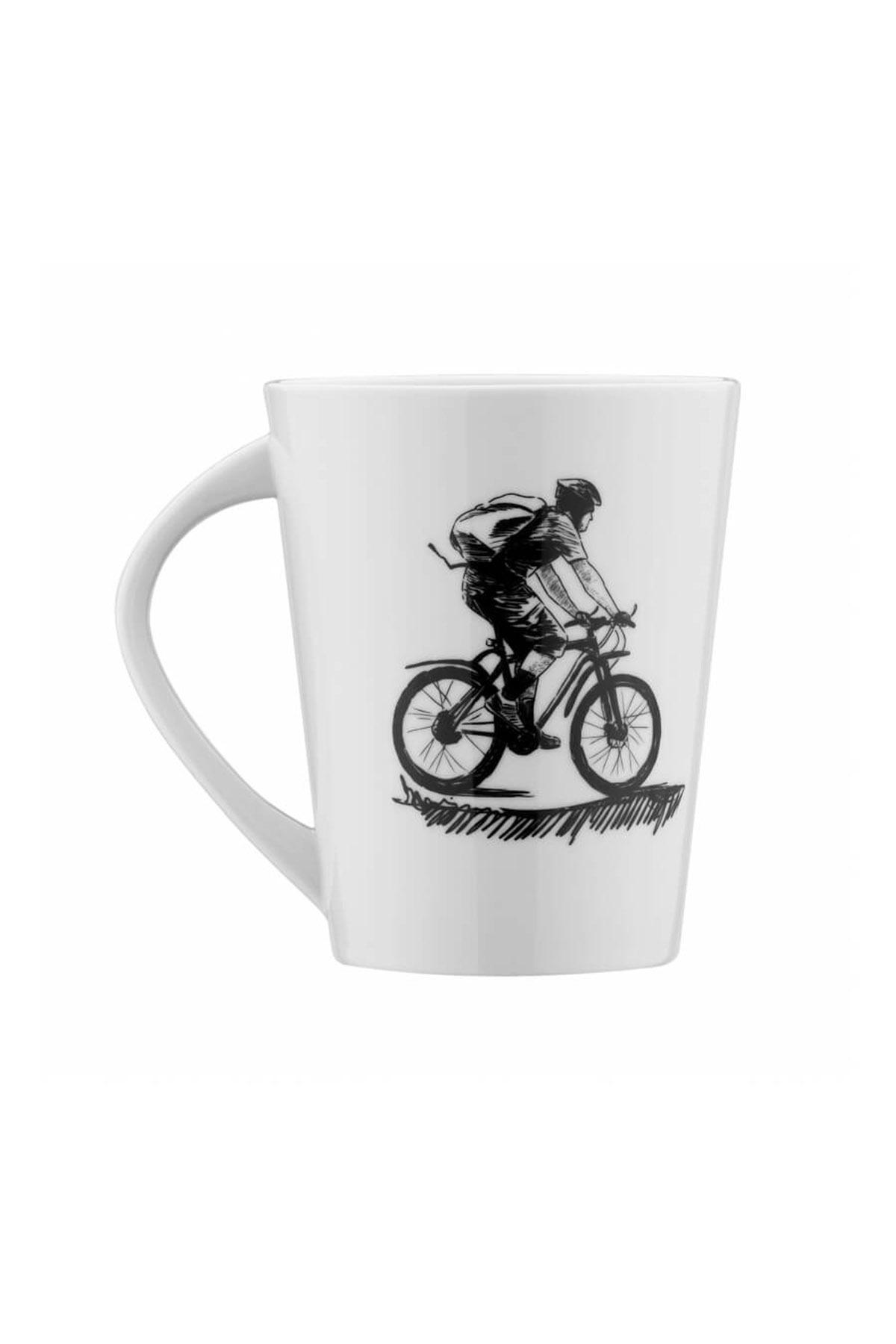 Kütahya Porselen Centilmen Serisi Mug Bardak Bisiklet