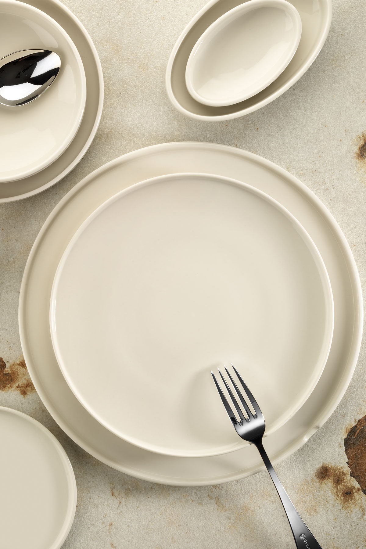 Kütahya Porselen Chef Taste Of 12 cm Oval Kase Krem