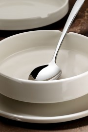 Kütahya Porselen Chef Taste Of 12 cm Oval Kase Krem - Thumbnail
