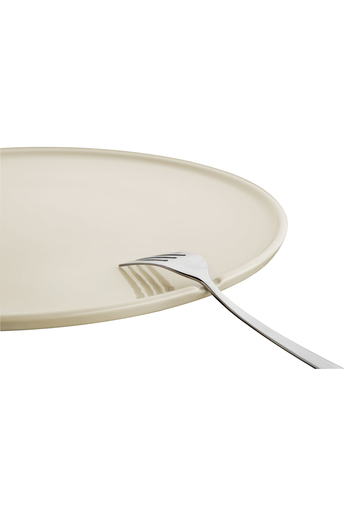 Kütahya Porselen Chef Taste Of 19 cm Düz Tabak Krem