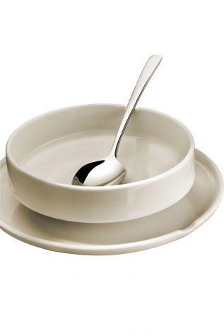 Kütahya Porselen Chef Taste Of 22 cm Kayık Tabak Krem - Thumbnail (4)