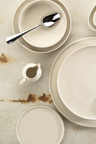 Kütahya Porselen Chef Taste Of 24 cm Kayık Tabak Krem - Thumbnail (1)