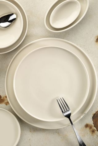 Kütahya Porselen Chef Taste Of 25 cm Düz Tabak Krem - Thumbnail (2)