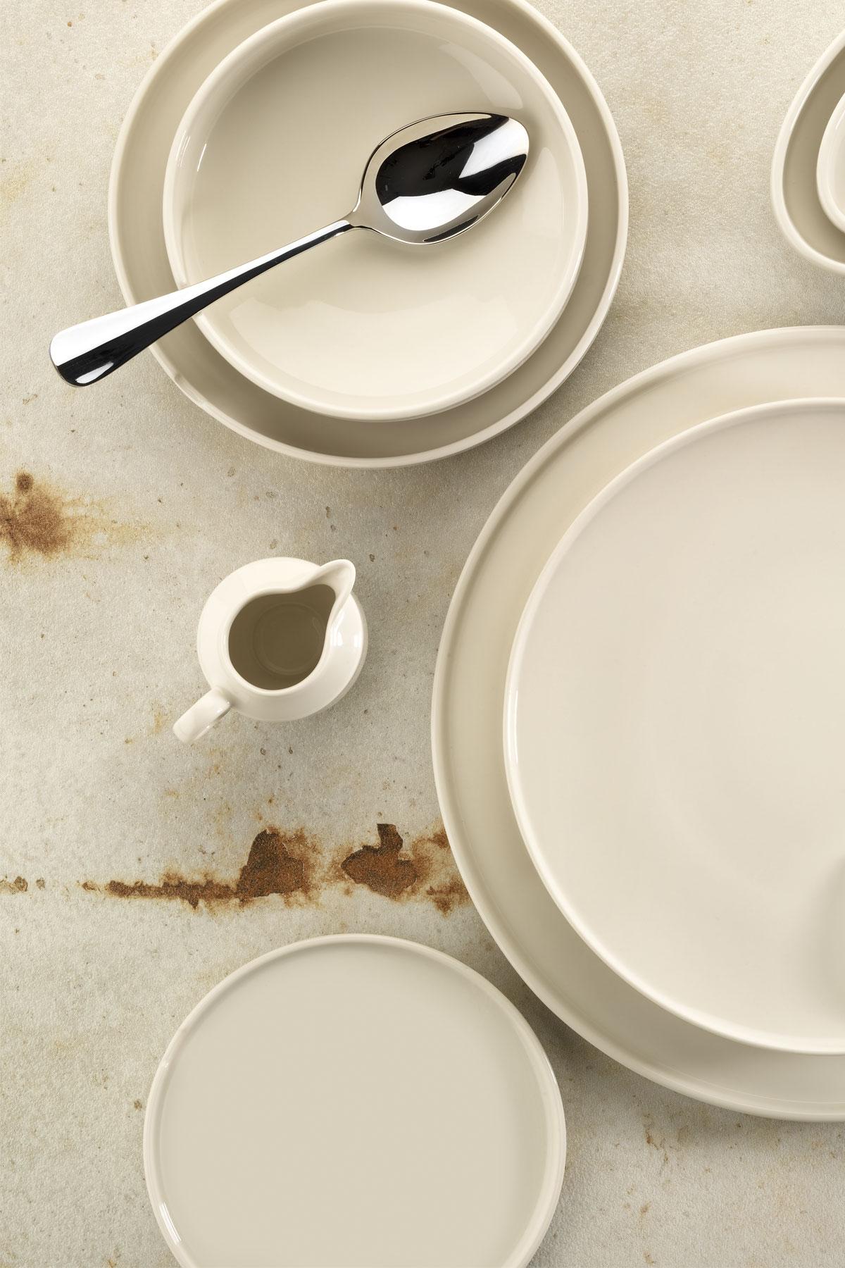 Kütahya Porselen Chef Taste Of 28 cm Düz Tabak Krem