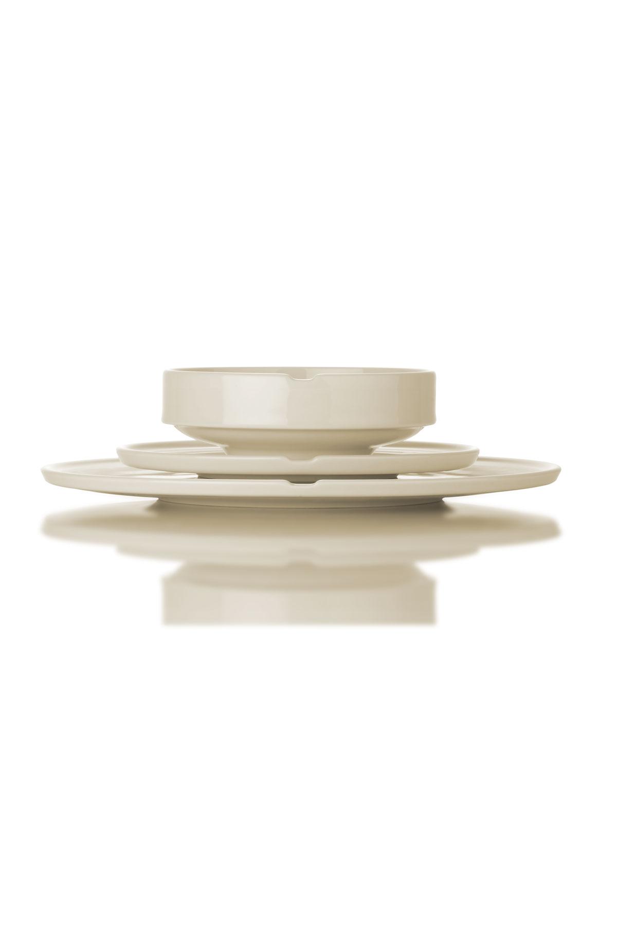 Kütahya Porselen Chef Taste Of 36 cm Kayık Tabak Krem